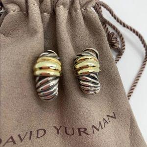 David Yurman cable classic shrimp earrings vintage